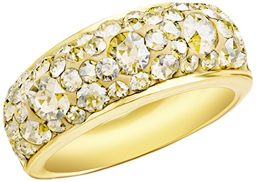 Noelani Damen-Ring Swarovski Elements Kristall gold gelbvergoldet - 9131372