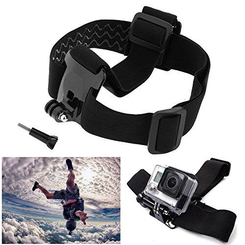Verstellbar Kopfband Helmband Head Strap Befestigungsband Kamerahalterung für GoPro Action Cam