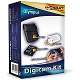 Carat electronics-digiCam kit-kit pour appareil photo olympus fE - 5040 avec batterie, chargeur, étui et film de protection d'écran lCD