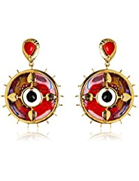 Miranika Gold Plated Drop Earrings for Women (Multi-Colour)(C1D4APS)