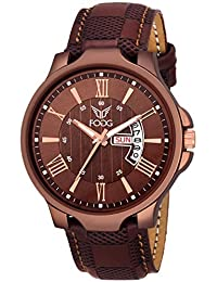 Fogg Brown Day and Date Men's Watch 1164-BR