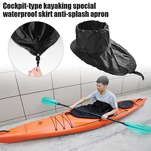 Spritzdecken Kajak Boat Spray Skirt Cockpit Cover mit wasserdicht, staubdicht, reißfest Nylon Kayak Boat Spray Skirt Cockpit Cover Wassersport Kajak Zubehör Zwei Größen