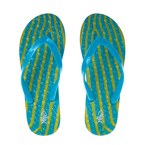Flopz Tongs Ripples Blue Straps