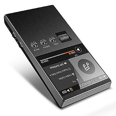 Lecteur MP3 haute résolution, Bassplay P5000 Lecteur audio numérique portable avec fente pour carte SD jusqu'à 128 Go de mémoire extensible ne comprenant pas de carte SD de Bassplay