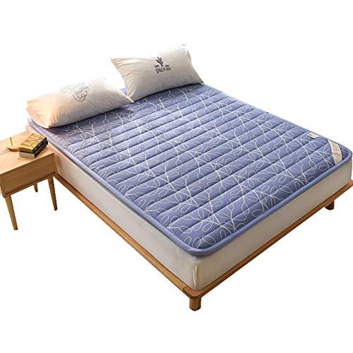 KE & LE Japanischer Stil Futonbett Schlafen Pad, 100% Baumwolle Twill Abdeckung Speicher Schaum Matratze Student Schlafsaal Baumwolle Gepolstert Topper Matratze-a 120x200x3cm -