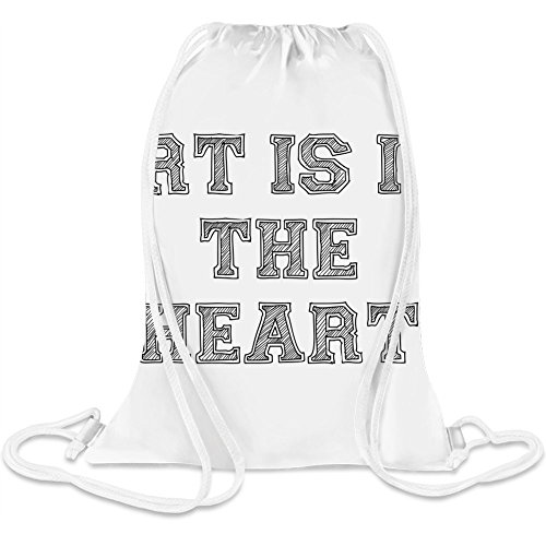 - Art Is In The Heart Custom Printed Drawstring Sack 5 l 100% Soft Polyester A Stylish Bag For Everyday Activities ()