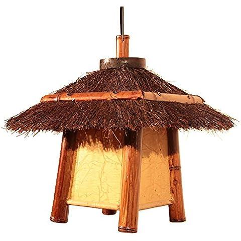 Rattan rattan lampada lampadario ornamenti decorativi Club stile pastorale cottage in rattan Lampadario