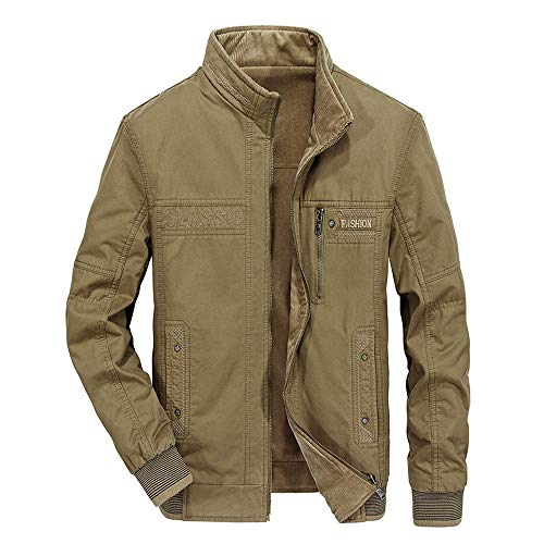953e5fe32bbe Luckycat Männer Herbst Winter tragen Baumwolle Jacken auf beiden Seiten  Mode Kragen Zipper Coat Winterjacke Steppjacke Daunenjacke Parka Mäntel  Jacken