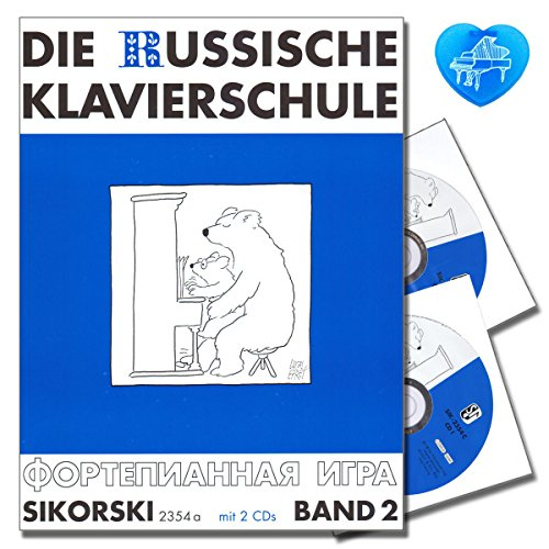 La Escuela De Piano Ruso de banda 2–Con 2CDs y con Bunter herzförmiger–Partituras sik2354a–9783935196918