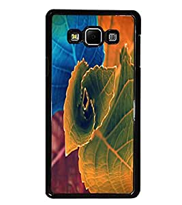 PrintDhaba Beautiful Leaf D-1155 Back Case Cover for SAMSUNG GALAXY A8 (Multi-Coloured)