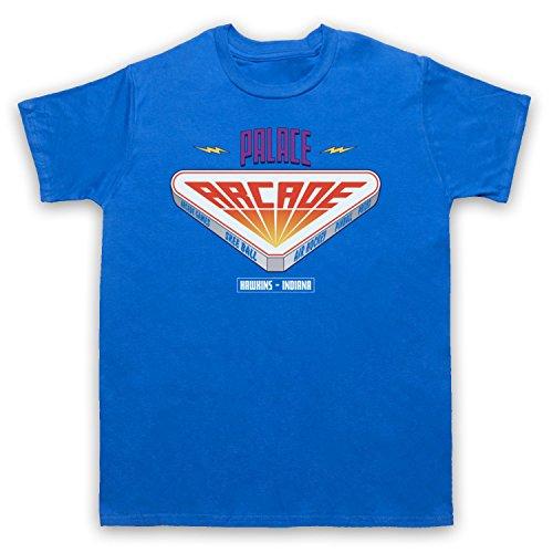 Stranger Things Palace Arcade Herren T-Shirt Blau