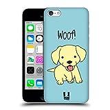 Head Case Designs Gelb Labrador Zufriedene Welpen Ruckseite Hülle für Apple iPhone 5c