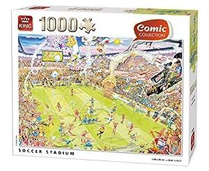 King Comic Collection Soccer Stadium 1000 pcs Puzzle - Rompecabezas (Puzzle Rompecabezas, Comics, Adultos, Gerold como, Niño/niña, 8 año(s))