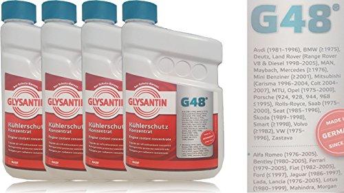BASF GLYSANTIN Frostschutz Kühlerfrostschutz Konzentrat G48 BLAU/GRÜN 6,0 L