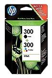 HP 300 - Pack de ahorro de 2 cartuchos de tinta Original HP 300 Negro, Tricolor para HP DeskJet, HP Photosmart, HP ENVY