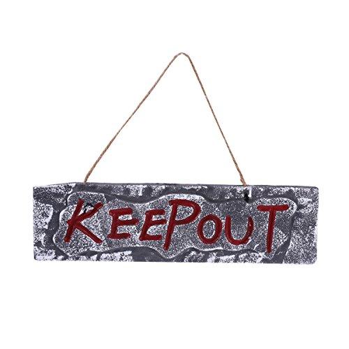 Tinksky Keepout Schaum Zeichen Halloween Hanging Zeichen Grabstein Halloween Halten Sie sich Grabstein Grabstein Party Requisiten Dekoration
