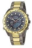 ETT Eco Tech Time Funk Solar Weltzeit Herren Uhr Chronograph mit Titan Armband EGT-11272-21M