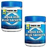 Thetford 2X Sanitärzusatz Campingtoiletten Aqua KEM Blue Sachets