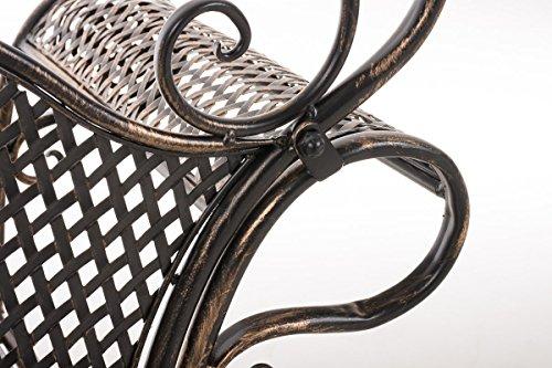 CLP Metall-Gartenbank TJURE im Landhausstil, Eisen lackiert, ca. 140 x 60 cm Bronze - 6