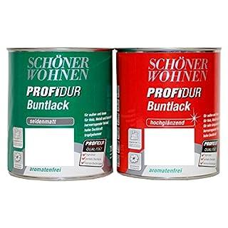 750 ml Schutz Farbe Ral 1515 Cashmere Schöner Wohnen Profidur Bunt Trend Lack Dose hoch glänzend aromatenfrei innen außen Bowatex