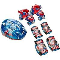 SPIDERMAN - Bolsa con patin de ruedas + casco + 2 protecciones