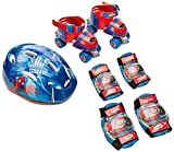 Unbekannt Darpeje OSPI002 Spiderman Kinder-Rollschuhe mit Schützern