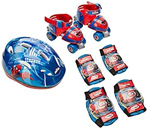 Spider man Baby Quad with Helmet Elbow and Knee Pads