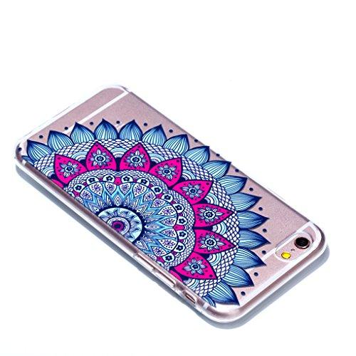 iPhone 6 6S Hülle, SATURCASE Schönes Muster Bas-relief Ultra Dünn Weich TPU Gel Silikon Schützend Zurück Case Cover Handy Tasche Schutzhülle Handyhülle Hülle für for Apple iPhone 6 6S (4.7 inch) (Must Muster-8