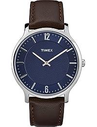 Timex Reloj Analógico para Unisex Adultos de Automático con Correa en Cuero  TW2R49900 a22cc097261b