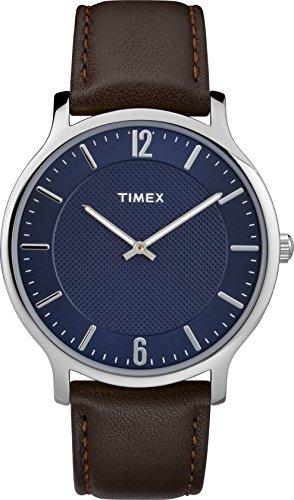 Timex Reloj Analógico para Unisex Adultos de Automático con Correa en Cuero TW2R49900