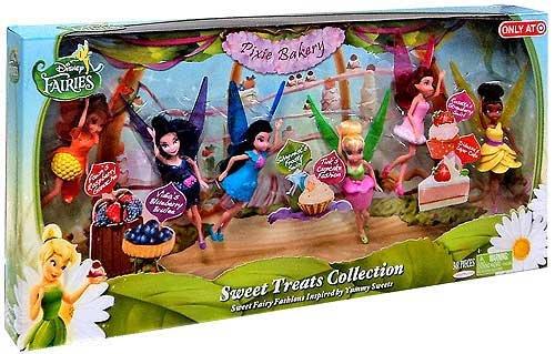 Disney Fairies Exclusive 4.5 Inch Doll Sweet Treats Collection [Vidia, Fawn, Tink, Silvermist, Rosetta & Iridessa] by (Rosetta Disney)