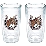 Tervis Horse Horseshoe Tumbler (Set of 2), 16 oz, Clear