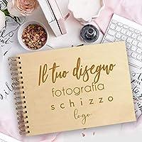 Guestbook matrimonio, libro delle firme e dediche in legno, tutto personalizzato, 100% su misura, per scrapbooking, idea regalo per gli anniversari, taccuini, agende e quaderni regali