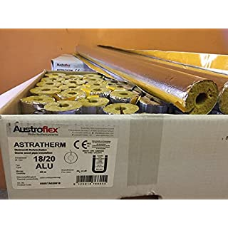 Aust ROFLEX Pipe Insulation 18 x 20 mm Full Box 42 M (5 '& # x20AC; M Pipes Bowls Bowl Insulation Foil-Laminated Rock Wool Mineral