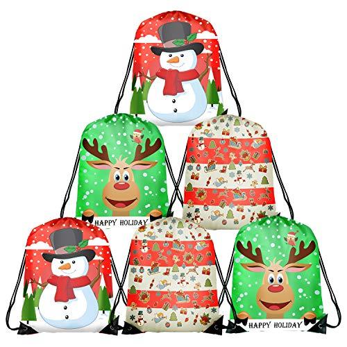 TUPARKA 6 Unids Navidad Bolsas Cordón Santa Cadena