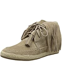 La StradaTaupe Coloured Suede Boots With Frings - Scarpe da Ginnastica Basse Donna amazon-shoes marroni Footaction Salida 6DeFXUT7