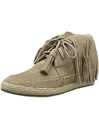 La StradaTaupe Coloured Suede Boots With Frings - Scarpe da Ginnastica Basse Donna amazon-shoes marroni
