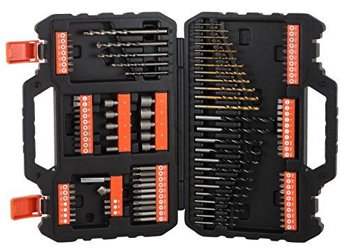"""Referencia del fabricante: A7200-XJKit para taladrar y atornillar 109 piezas. Brocas """"Titanio"""" Black and Decker - Ref: A7200-XJ"""