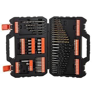 BLACK+DECKER A7200-XJ – Juego de 109 piezas para atornillar y taladrar con brocas «Titanio»