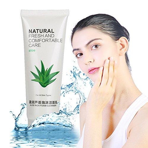 Nettoyant pour le visage Naturel Aloe Vera Hydratant 0026 Deep clean pores Acné Pimple Blackhead Traitement Crème nettoyante pour le visage Gel