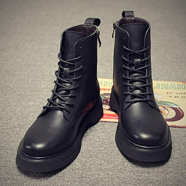 HL-PYL-Los hombres las botas botas de Martin en la versión coreana de las botas de cuero,39,negro