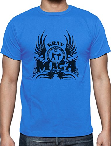 Geschenk für Krav Maga Martial Arts Fans T-Shirt Hellblau