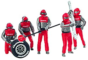Carrera- Set de Figuras, Color Crew Rot (20021131)