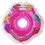 Baby Schwimmer Tüv GS Halsschwimmring Gr. 3-12 kg (0-24 Monate) Schwimmhilfe für Baby Schwimmring Badehilfe Schwimmtrainer in klein Rosa