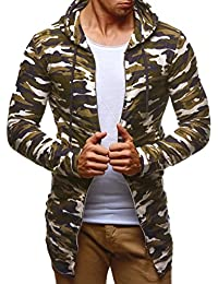 Leifheit Nelson Hombre Oversize Sudadera con capucha chaqueta con capucha sudadera ln6301
