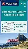 Rosengarten / Catinaccio / Schlern / Sciliar 1 : 25 000 (KOMPASS-Wanderkarten, Band 628) -