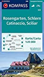 Rosengarten / Catinaccio / Schlern / Sciliar 1 : 25 000: Wandelkaart 1:25 000 (KOMPASS-Wanderkarten, Band 628)