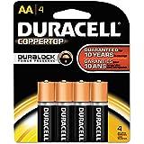 (3 Pack Value Bundle) DURMN1500B4Z Coppertop Alkaline Batteries, AA, 4/Pack