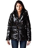 24brands - Damen Frauen Winter Jacke Lang Mantel Glanzjacke Steppmantel oder -jacke - 2334