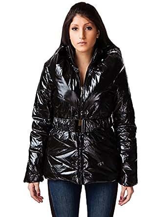 24brands - Damen Frauen Winter Jacke Lang Mantel Glanzjacke Steppmantel oder -jacke - 2334, Größe:36;Farbe:Modell 6